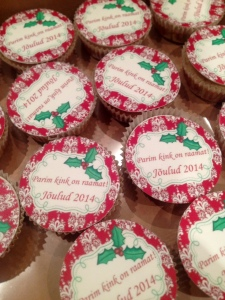 jõulutervitus muffinil